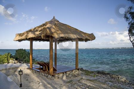 Beach hut on tropical island stock photo, Beach hut on a small and beautiful tropical island. by Robert Ranson