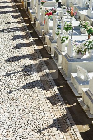 Catholic cemetery in Alentejo, Portugal stock photo, Catholic cemetery in a small village of Alentejo, Portugal by Manuel Ribeiro