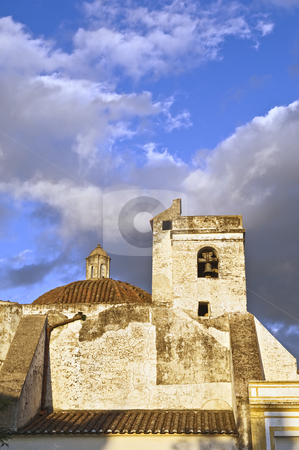 Old church tower stock photo, Old church bell tower  in the afternoon light by Manuel Ribeiro