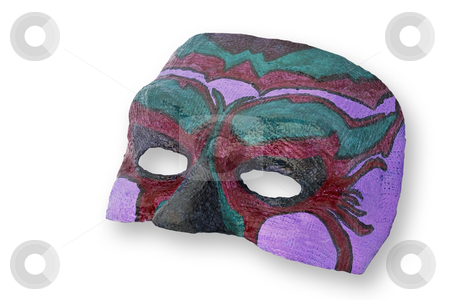 Carnival mask isolated. stock photo, Carnival mask isolated on  white background, clipping path excludes the shadow. by Pablo Caridad