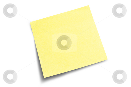 Sticky Note - to do list stock photo, Yellow post-it note waiting for your message by Gary Cookson