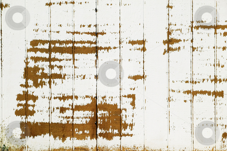 Wood and Paint Texture stock photo, Texture background of wood slats and peeling paint by Scott Griessel