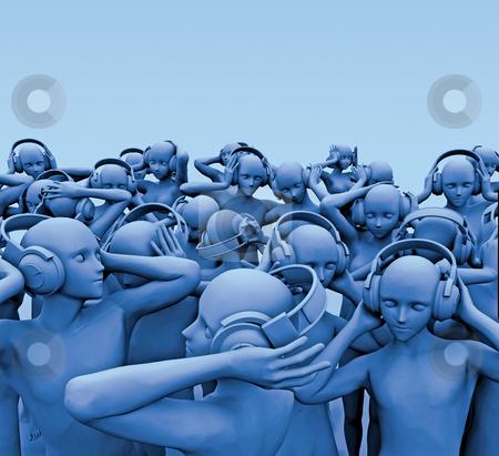 Blue2 stock photo, Illustration by Nikolai Larin