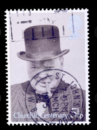 Winston churchill stock photo, British postage stamp commemorating winston churchill by Torsten Lorenz