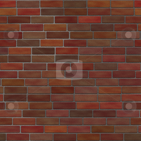 Seamless Brick Wall stock photo, This brick wall texture tiles seamlessly as a pattern. by Todd Arena