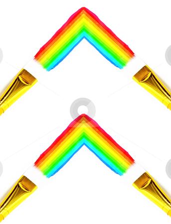 Paint brush rainbow stock photo, Paint Brush Rainbow by John Teeter
