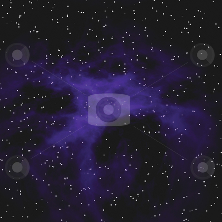 Star Field Nebula stock photo, A very realistic looking starfield nebula illustration. by Todd Arena