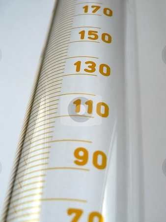 Measuring stock photo, Graduated cylinder in chemistry lab by Laurent Dambies