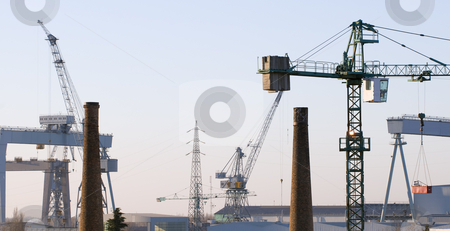 Industry stock photo, View of different kind of industrial activities by Massimiliano Leban