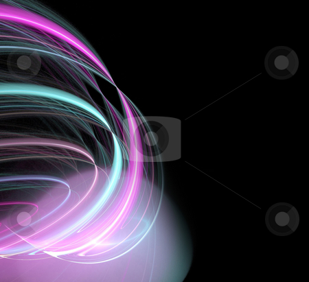 Glowing abstract plasma stock photo, A cool background layout with 3d abstract lines - very modern.  Great for ads. by Todd Arena
