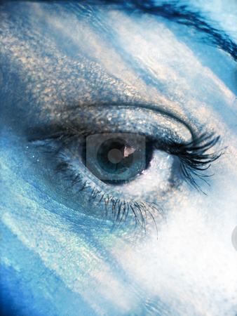 Eye Atmosphere stock photo, A beautiful abstract eye concept in a sky blue tone. by Todd Arena