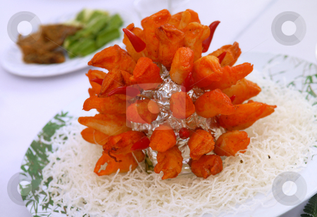 Asian Food stock photo, Crab Meat and Dry Noodle by Jaggat Images