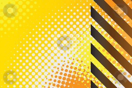 Hazard Stripes  stock photo, A hazard stripes texture with halftone effects. by Todd Arena
