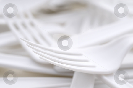 Shallow focus closeup of a plastic utensils stock photo, Shallow focus extreme closeup of a plastic utensils by Vince Clements