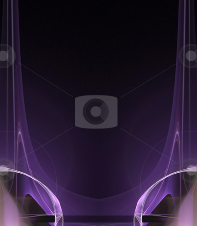 Abstact Purple Layout stock photo, A cool background border with 3d abstract lines - very modern.  Great for ads and layouts. by Todd Arena