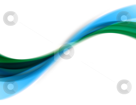 Abstract Swirl stock photo, A wavy abstract layout with blue and green.  Great for use as a design template or background. by Todd Arena