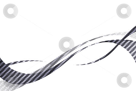 Carbon Fiber Swooshes stock photo, Carbon fiber flowing curves layout with plenty of copy space. by Todd Arena