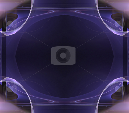 Funky Fractal Border stock photo, A cool background border with 3d abstract lines - very modern.  Great for ads and layouts. by Todd Arena