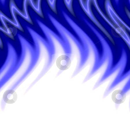 Blue flames stock photo, A wavy, blue, abstract flames pattern by Todd Arena