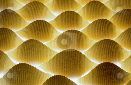 Conchiglioni pasta stock photo, Conchiglioni pasta with lighting coming from below by Paul Phillips