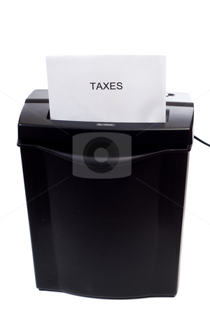 Lowering Taxes stock photo, Concept image of getting rid of taxes, or lowering the, by Richard Nelson