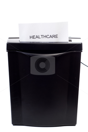 Healthcare stock photo, A concept image of a bad healthcare system, isolated against a white background by Richard Nelson