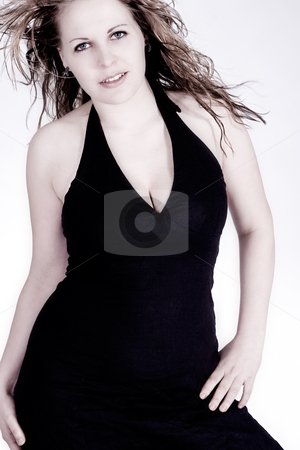 Sexy black dress girl stock photo, The beautiful woman in the sexy black dress by Frenk and Danielle Kaufmann