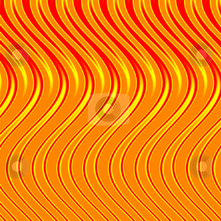 Orange flames stock photo, An abstract illustration that looks like flames - very wavy. by Todd Arena