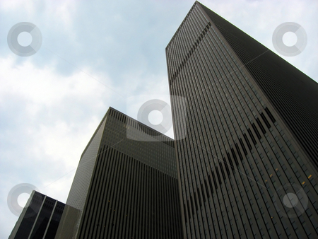 Corporate architecture stock photo, An example of modern corporate architecture found in the city. by Todd Arena