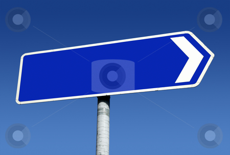 Right pointing old direction sign with space for text. stock photo, Right pointing old direction sign with space for text. by Stephen Rees