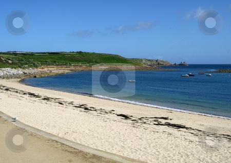 Porthcressa beach, St. Mary's Isles of Scilly, Cornwall UK. stock photo, Porthcressa beach, St. Mary's Isles of Scilly, Cornwall UK. by Stephen Rees