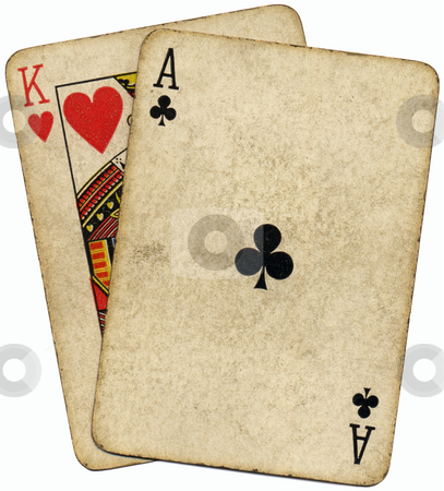 Ace King known as the Big slick poker hand. stock photo, Ace King known as the Big slick poker hand. by Stephen Rees
