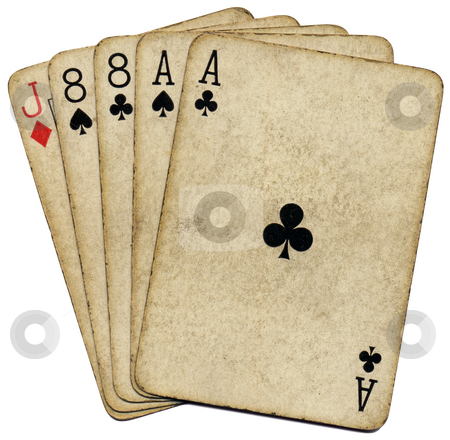 Aces and eights, the dead mans hand. stock photo, Aces and eights, the dead mans hand. by Stephen Rees