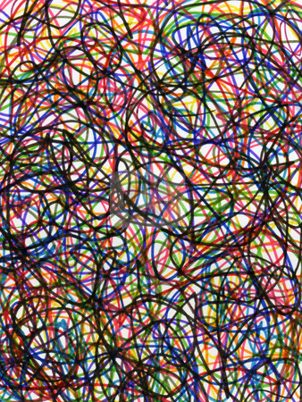Felt tip pen colorful scribbles abstract pattern. stock photo, Felt tip pen colorful scribbles abstract pattern. by Stephen Rees