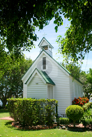 Historic Church stock photo, Old historic and quaint church in the tropical countryside. by Brett Mulcahy
