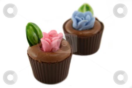Flowerpot Chocolates stock photo, Delightful and colorful handmade flowerpot chocolates. by Brett Mulcahy