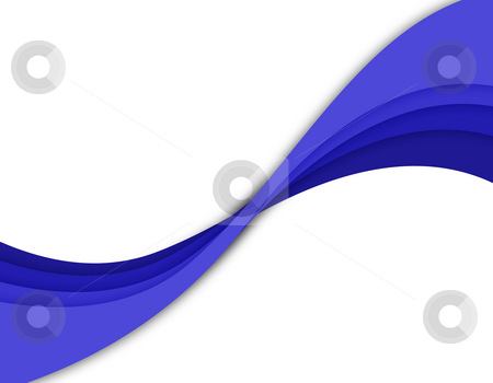 Abstract Blue Twirl stock photo, A wavy abstract layout - great for use as a design template or background. by Todd Arena