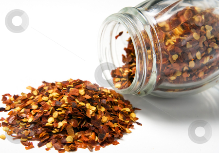 Spices stock photo, Various spices flow out of their container. by Naturegraphica Stock
