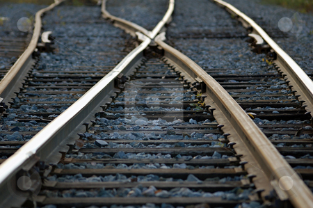 Rail Road stock photo, Rail road tracks crossing each other by Alain Turgeon