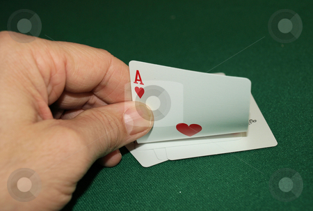 Ace stock photo, Showing the top card ace, what's underneath? by Tim Markley