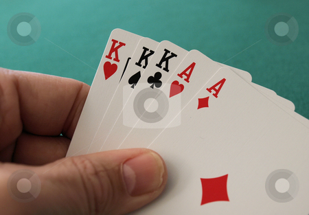 Full house stock photo, Full house hand with ace and kings by Tim Markley