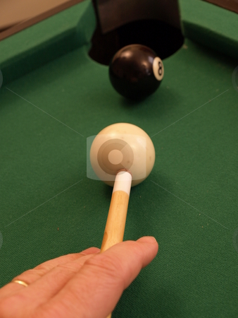 Eight ball stock photo, Eight ball in the corner by Tim Markley