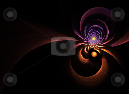 Abstract Fractal Background stock photo, An abstract fractal vortex background with plenty of copyspace - add style to any design. by Todd Arena