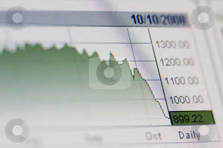 Financial indicators stock photo, LCD closeup shot shows financial rates and figures by Erdal Bayhan