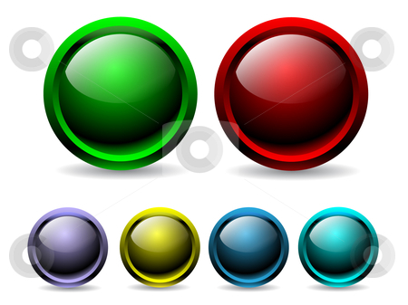 Colorful buttons stock vector clipart,  by Mihaly Pal Fazakas