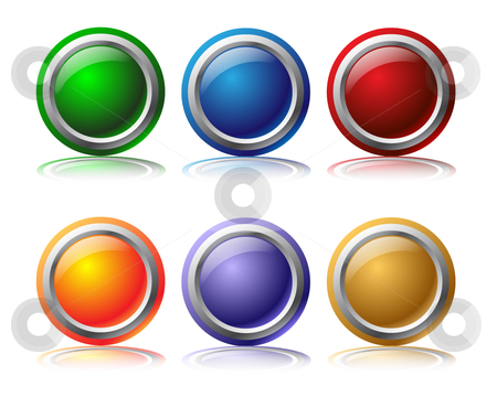 Glossy web buttons stock vector clipart,  by Mihaly Pal Fazakas