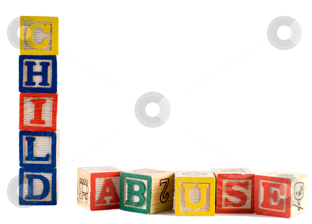 Child Abuse stock photo, Concept image of child abuse, by spelling it out with wooden letter blocks by Richard Nelson