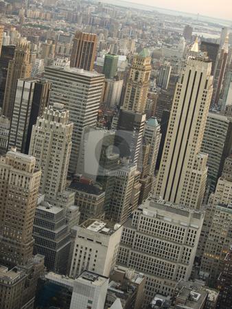 Manhattan stock photo, Manhattan aerial view. by Brandon Parry