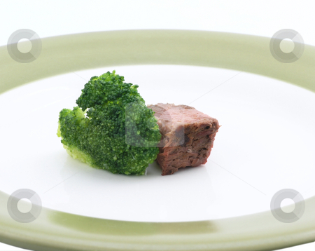 Steak and Broccoli  stock photo, Steak and broccoli diet by John Teeter