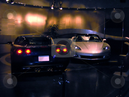 Two C6 Corvettes stock photo, Nice pair of corvettes by Todd Arena